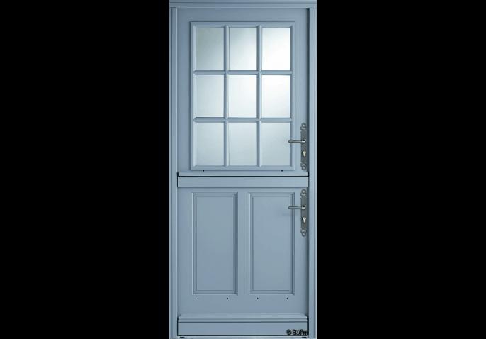 porte d entree bois style fermiere vitree
