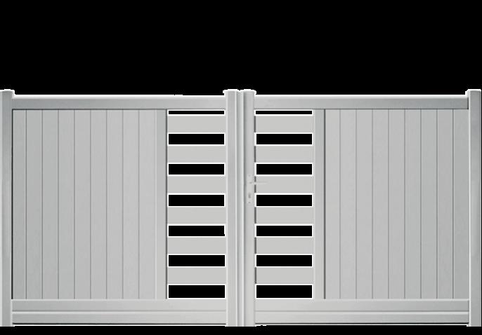 portail alu droit semi ajoure en partie