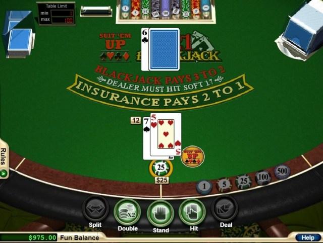 Play Free Suit 'Em Up Blackjack Game