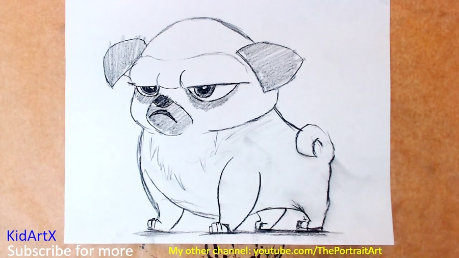 How To Draw Pug Simple Line Drawing Step By Step Tutorial