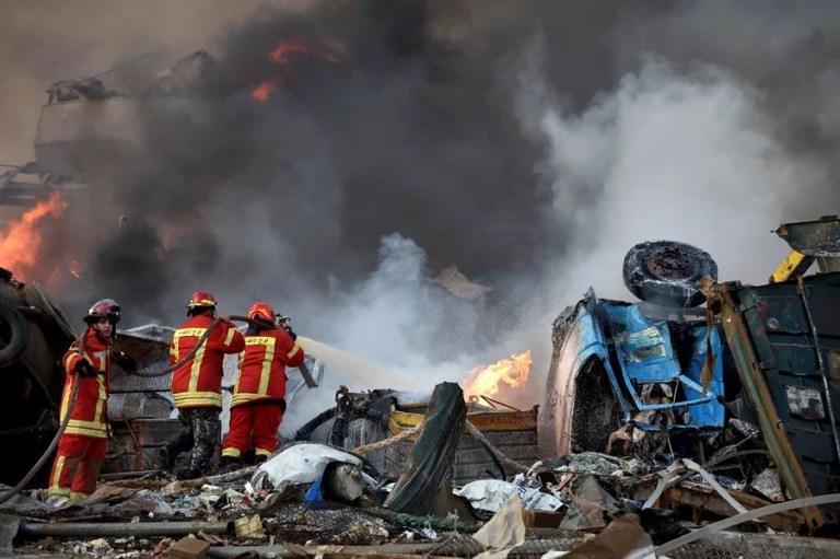 Imagens impressionantes da tragédia em Beirute no Líbano - PUBR ...