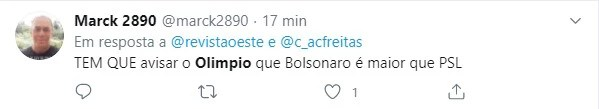 Major Olímpio foi criticado nas redes sociais ao dizer que preferia Lula a Bolsonaro no PSL
