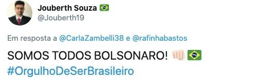 Jair Bolsonaro aparece em primeiro lugar em enquete de Rafinha Bastos