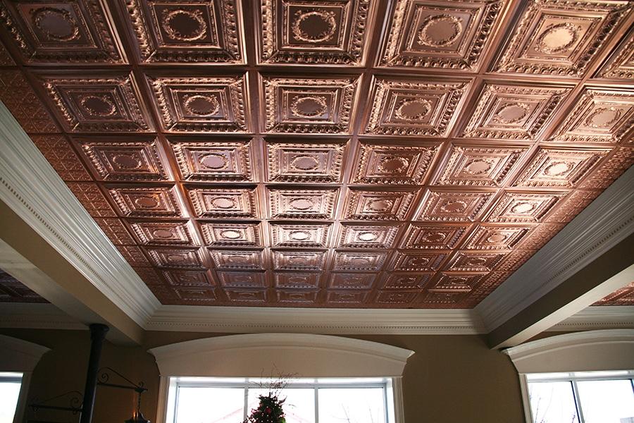 empire ceiling tile faux copper