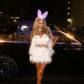Paris Hilton rabbit bunny costume treats 2017 halloween