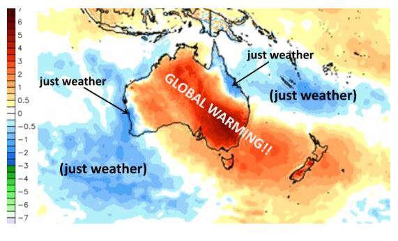 Vague de chaleur janvier 2019 Australie et zones environnantes