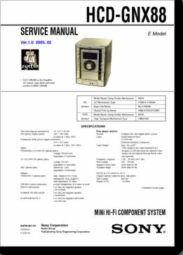 DiagramaManual SONY HCDGNX88