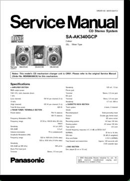 DiagramaManual Panasonic Manual Panasonic SAAK340