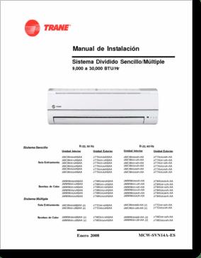 DiagramaManual TRANE VARIOS MODELOS MCWSVN14AES