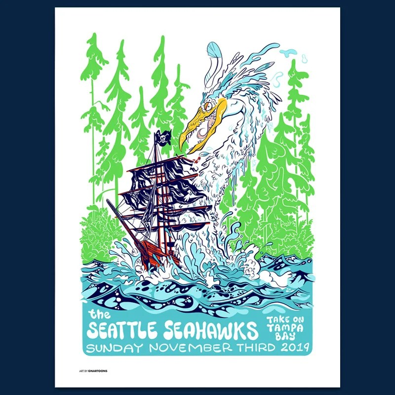 seahawks gameday posters seattle