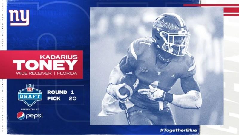 2021 NFL Draft: Kadarius Toney, WR Florida, Round 1, Pick 20