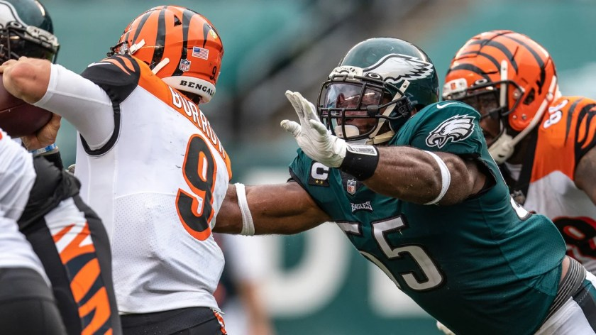 DE Brandon Graham  Philadelphia Eagles vs. Cincinnati Bengals at Lincoln Financial Field on September 27, 2020