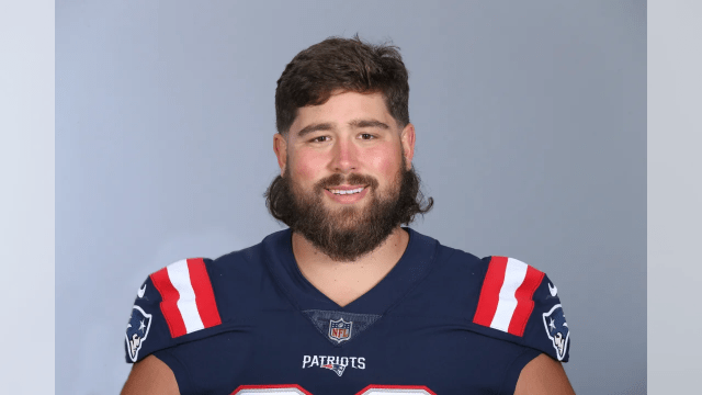 This is a 2020 photo of David Andrews of the New England Patriots NFL football team. This image reflects the Patriots active roster as of August 1, 2020 when this image was taken. (AP Photo)