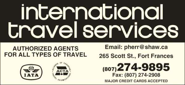 International Travel Services - 265 Scott St, Fort Frances, ON