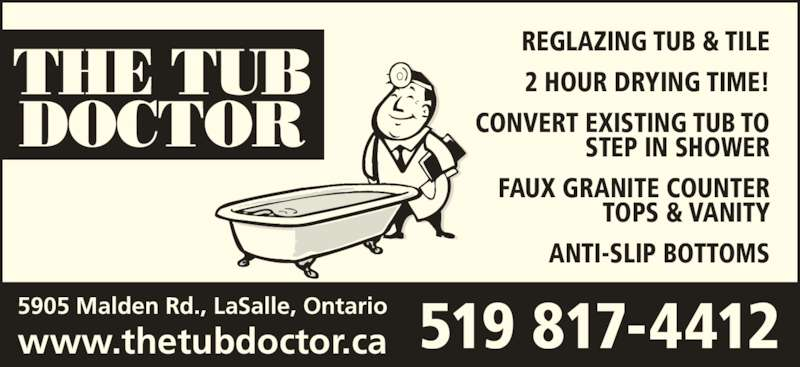 The Tub Doctor Opening Hours ON