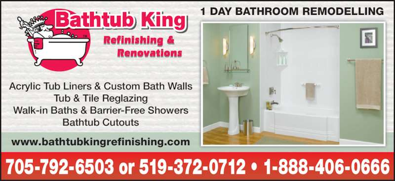 Bathtub King Refinishing Amp Renovations Opening Hours