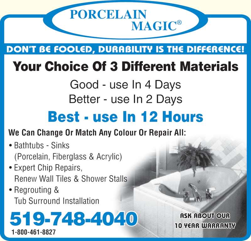 Porcelain Magic Opening Hours 3310 King St E