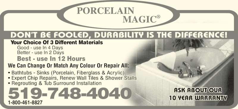 Porcelain Magic Kitchener ON 3310 King St E Canpages