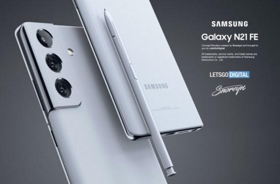 三星Galaxy Note 21 FE渲染赏析-Samsung