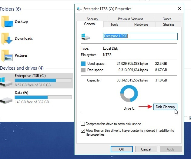 7 Easy Ways How to Open Disk Cleanup in Windows 10 16