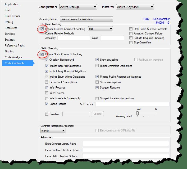 Visual Studio Project Properties