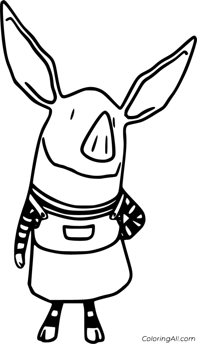 Olivia Pig Coloring Pages - ColoringAll