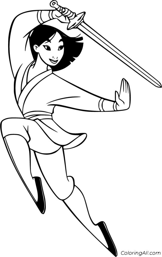 Mulan Coloring Pages - ColoringAll