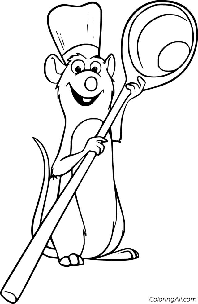 Ratatouille Coloring Pages - ColoringAll