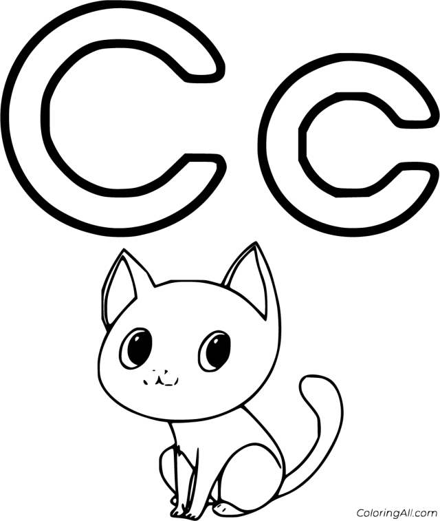 Letter C Coloring Pages - ColoringAll
