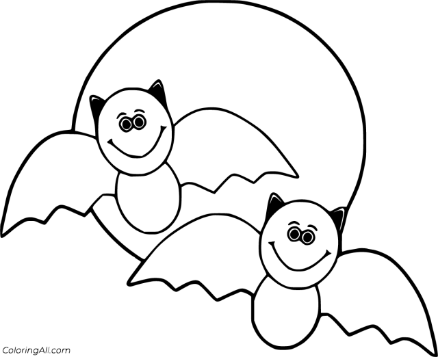 Halloween Bat Coloring Pages - ColoringAll