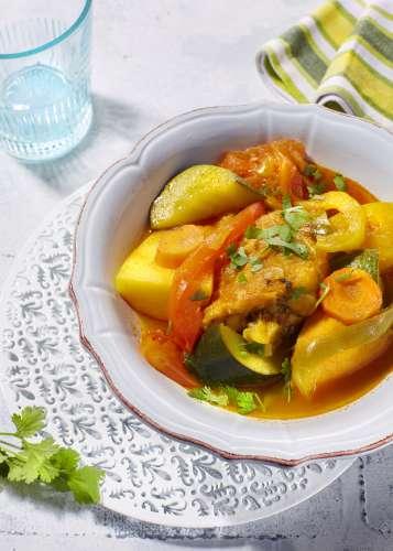 tajine aux hauts de cuisses de poulet et aux 6 legumes