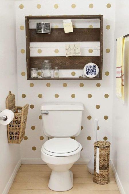 astuces de rangements au dessus des wc