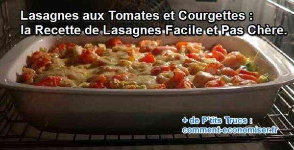 lasagnes tomates courgettes