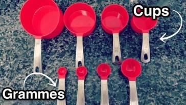 Comment Convertir les Cups en Grammes Dans les Recettes ? Le Tableau de Conversion Indispensable.
