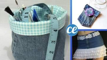 54 Façons Incroyables de Réutiliser Ses Vieux Jeans.
