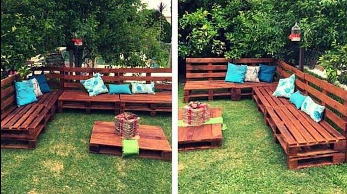 jardin sur roulettes avec des palettes
