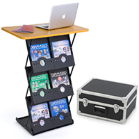 portable literature stands folding