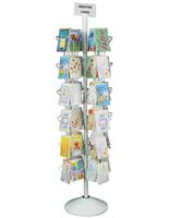 1 greetings card display rack used