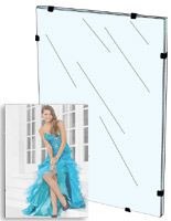 glass clip frame can be wall mounted