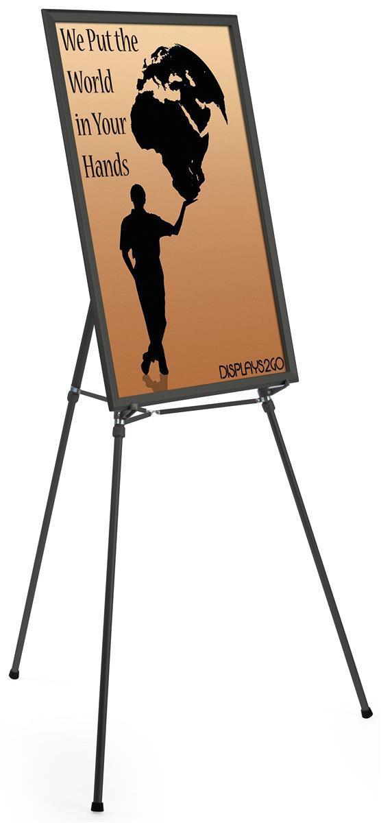 24 x 36 poster frame w floor easel adjustable height black