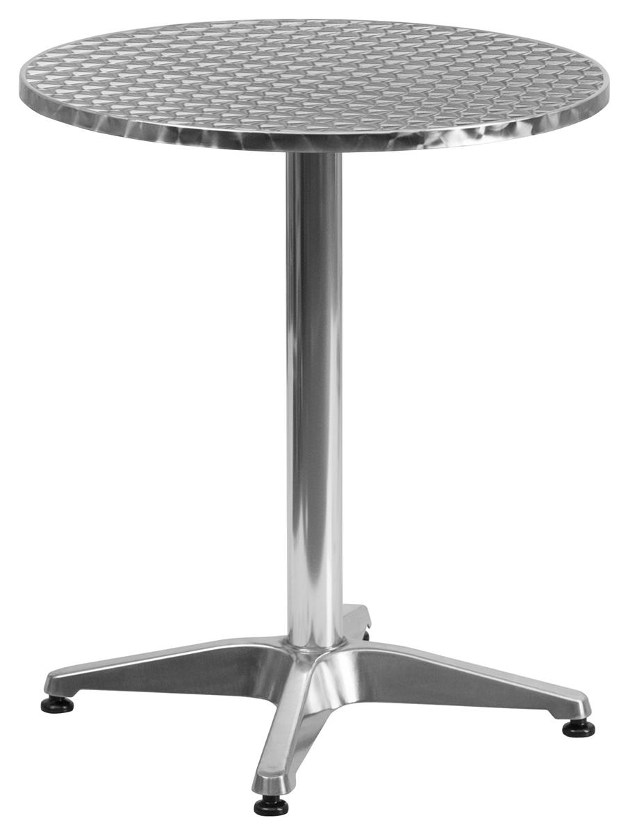 flash furniture 23 5 round 28 tall tabletop with textured surface silver