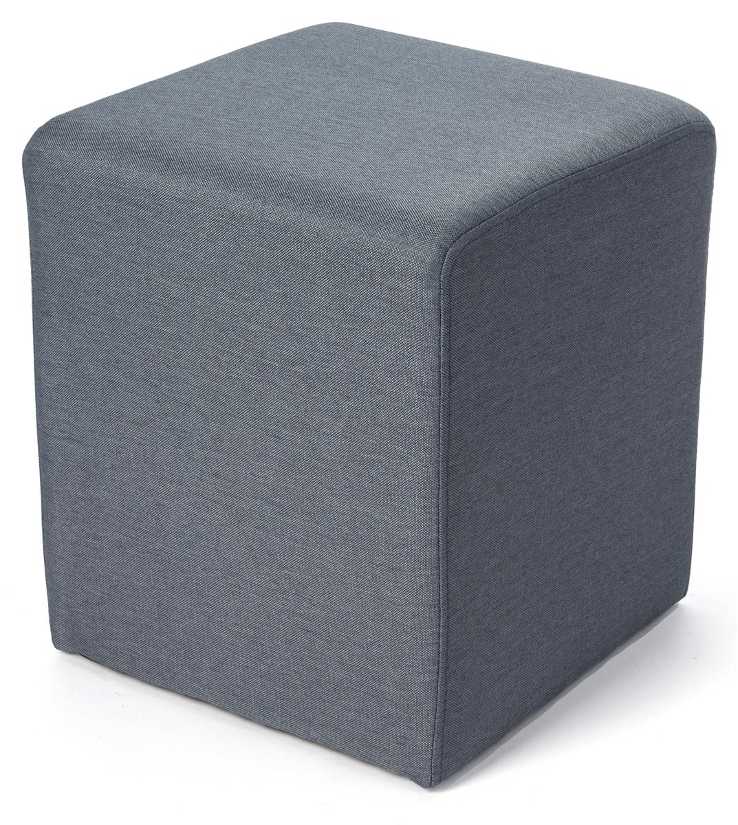 15 square upholstered ottoman stool blue