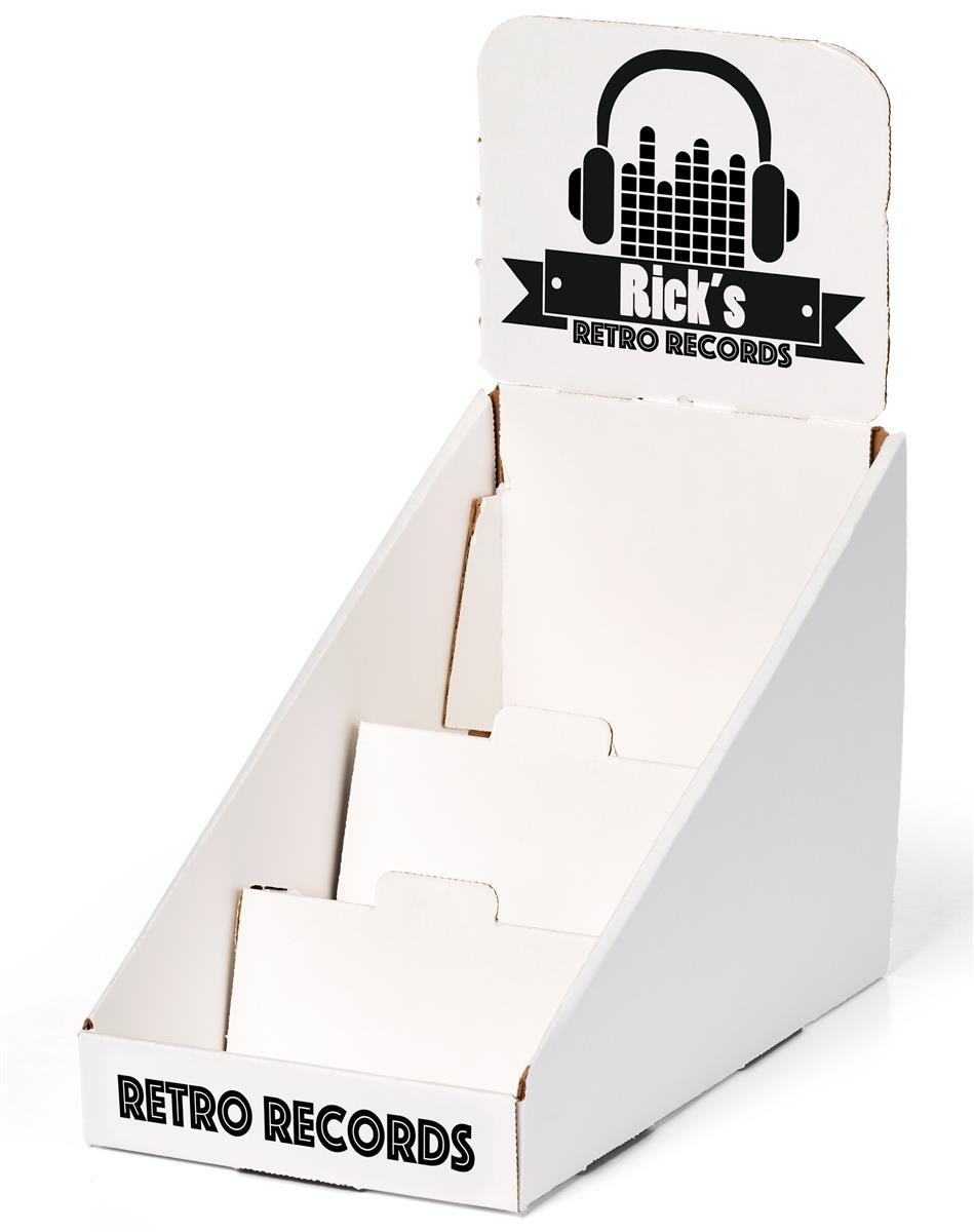 tier cardboard counter cd display