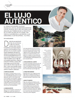 Gustavo Egusquiza declarado por la revista Forbes como uno de los mayores expertos en turismo del mundo
