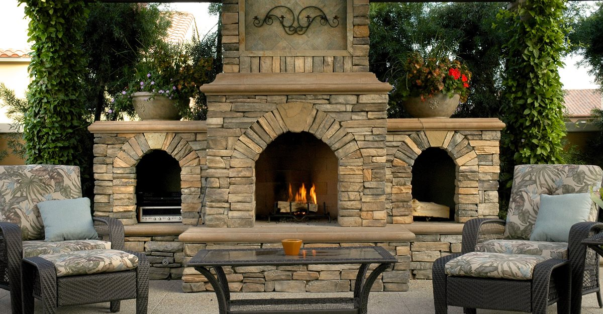 Outdoor Fireplace - Backyard Fireplace Designs and Ideas ... on Outdoor Kitchen And Fireplace Ideas id=16492