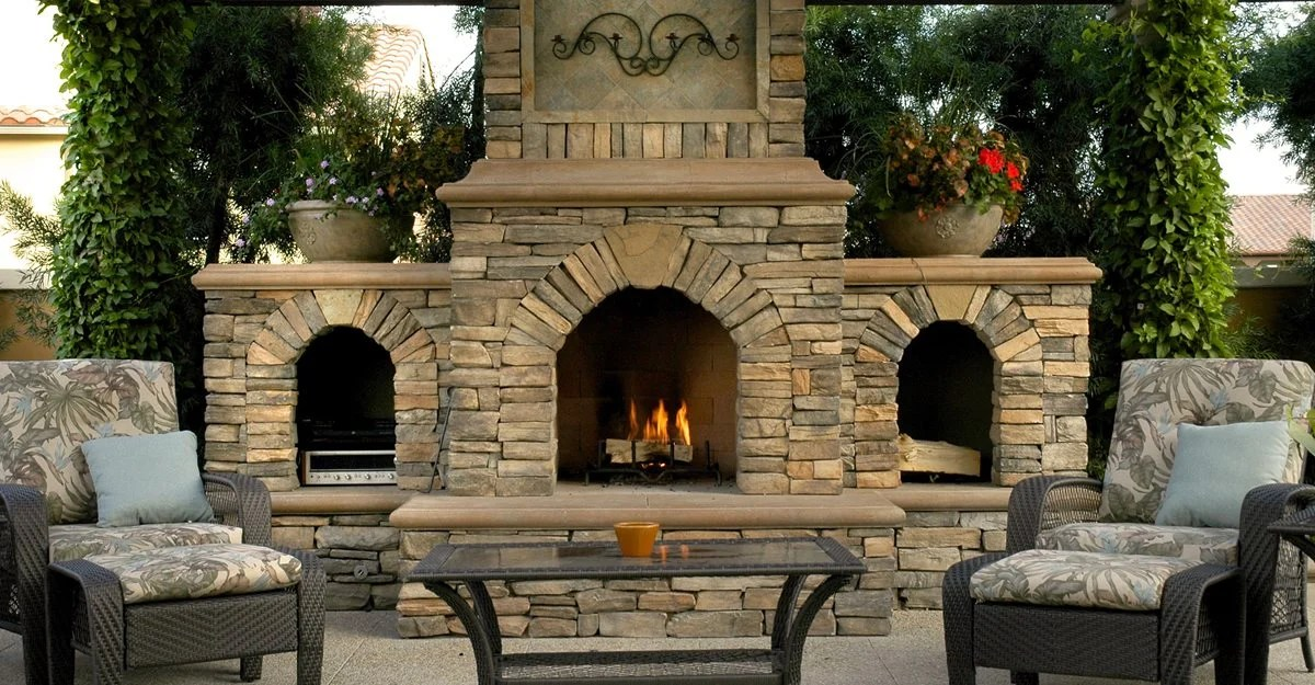 Outdoor Fireplace - Backyard Fireplace Designs and Ideas ... on Outdoor Kitchen And Fireplace Ideas id=79104