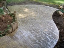 wood stamped concrete stained
