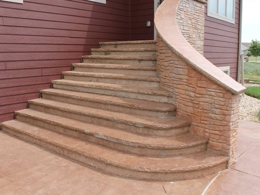Pouring Concrete Steps The Concrete Network | Attaching Wood To Concrete Steps | Composite Decking | Handrail | Staircase | Screws | Deck Stairs