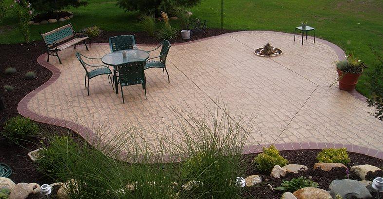 Five Budget-Friendly Stamped Concrete Ideas - The Concrete ... on Square Concrete Patio Ideas id=63623