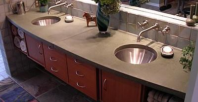 bathroom remodeling using concrete in